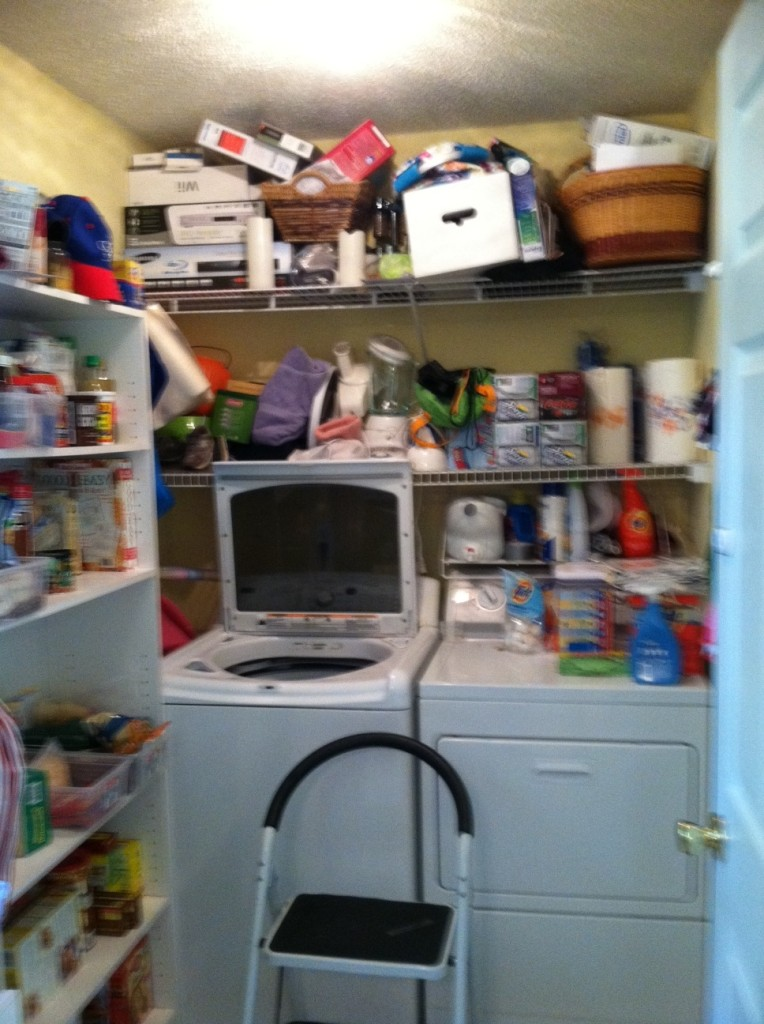 pantry and laundry before