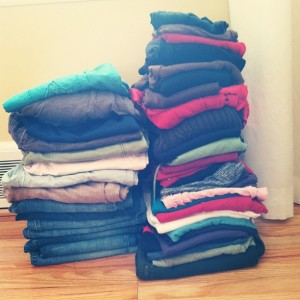 Do It With Me: Spring Clothing Purge Challenge