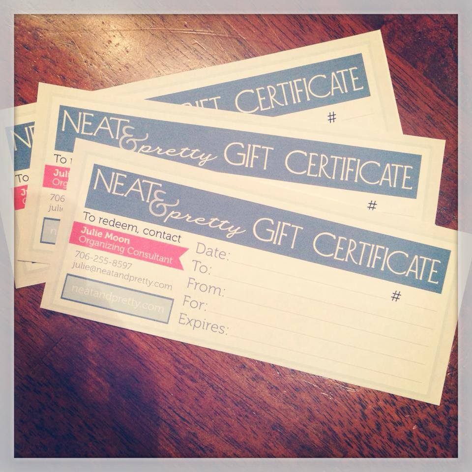 gift certificates 2014