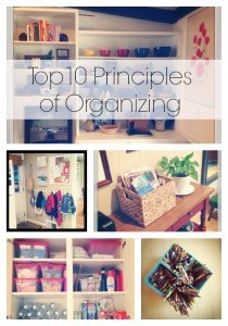 Julie's Principles of Organizing